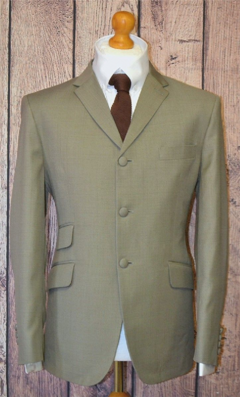 """Gavin"" Taupe Three Button Suit"
